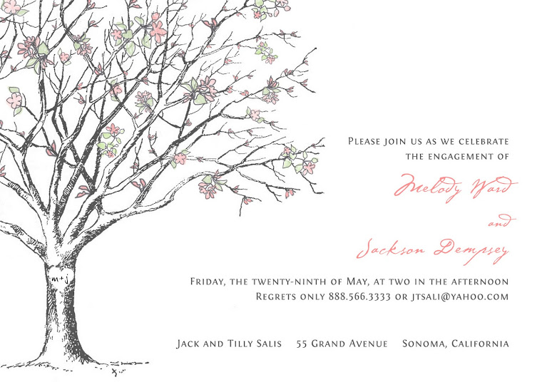 Sakura Blossom Bridal Shower Inviitation