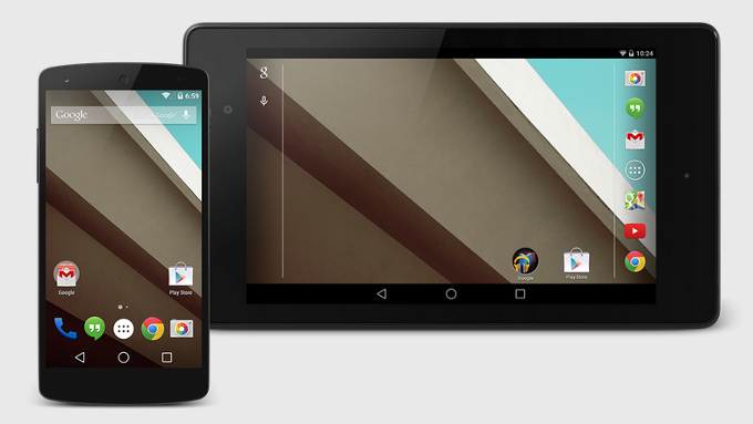 Android L in Nexus 5 and Nexus 7