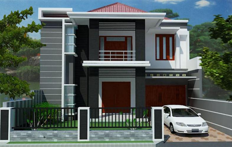 Contoh Rumah Minimalis Dua Lantai Modern dan Terbaru