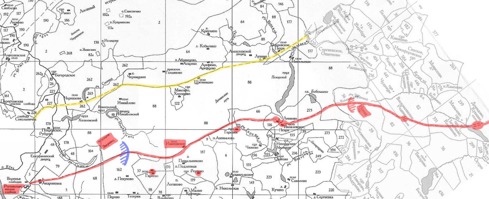 карта старой владимерского тракта поиск