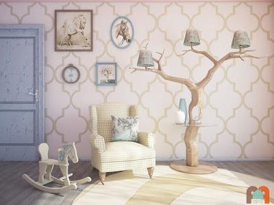 Árbol y lampara  de ensueño