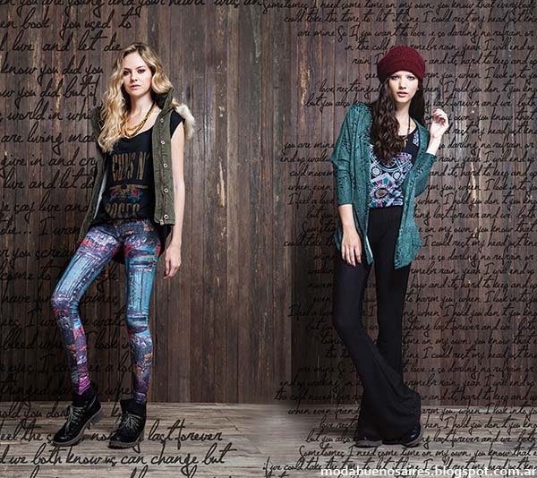 Pantalones oxford moda otoño invierno 2014 colección Rimmel otoño invierno 2014.