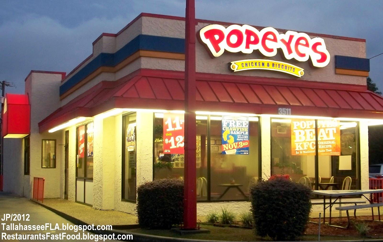 Popeyes Louisiana Kitchen Food Tallahassee Florida Leon Costate University Restaurant Hospital