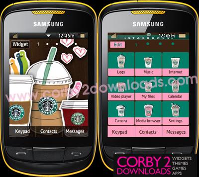Samsung Corby 2 Theme: Starbucks 2