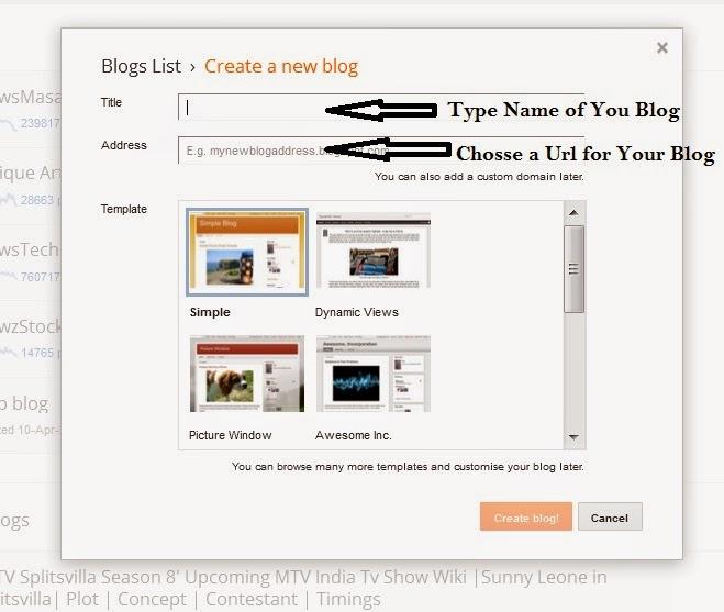 Create a New Blog Option