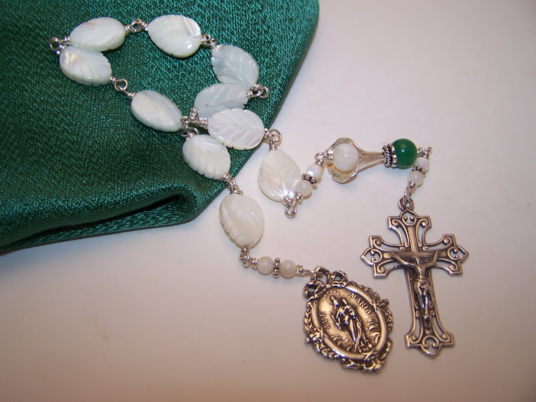 No.2.  AVE MARIA CALLA LILY Unbreakable Single Decade Rosary