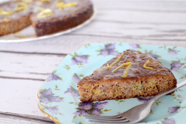 Lemon Courgette & Poppy Seed Cake Recipe