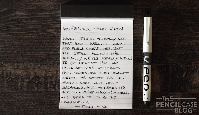 Pilot Vpen fountain pen written review