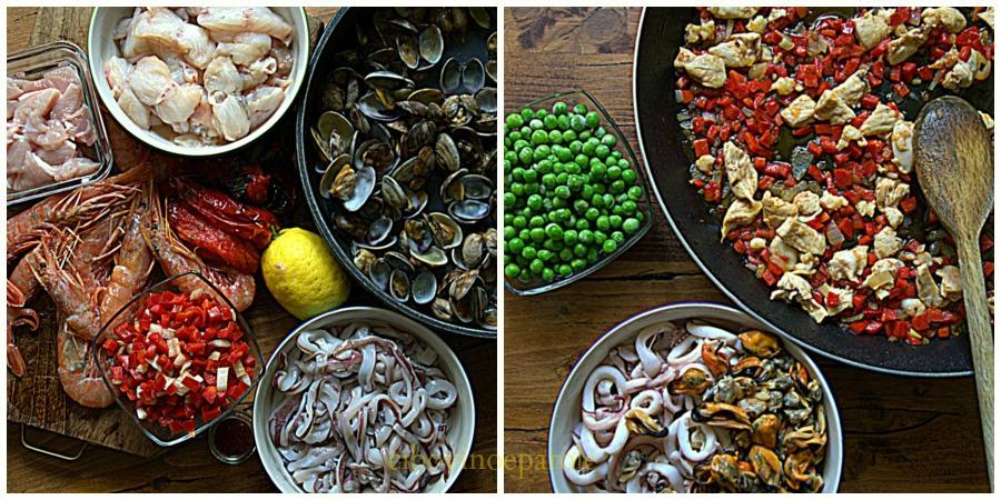 Paella de marisco ingredient