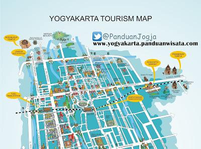 Yogyakarta Tourism Map