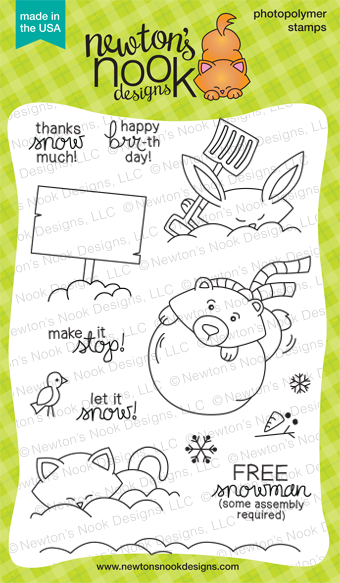 Winter Tails - 4x6 Snow Animals Stamp set by Newton's Nook Designs