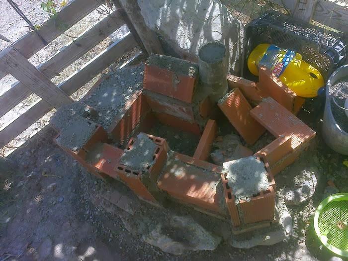 ladrillos y cemento