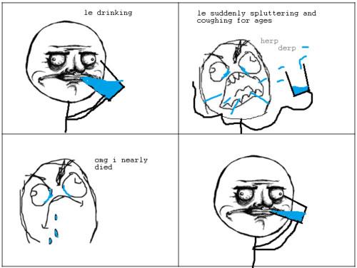 Funny Meme About Drinking Water : Meh gustaz