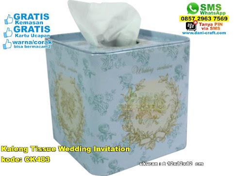 Kaleng Tissue Wedding Invitation