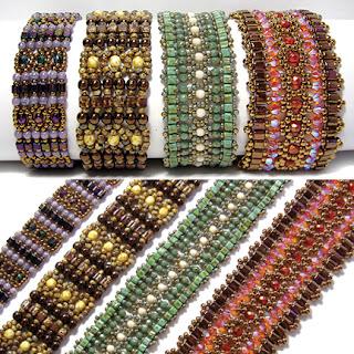 Deb Roberti's Cube Brocade Bracelets