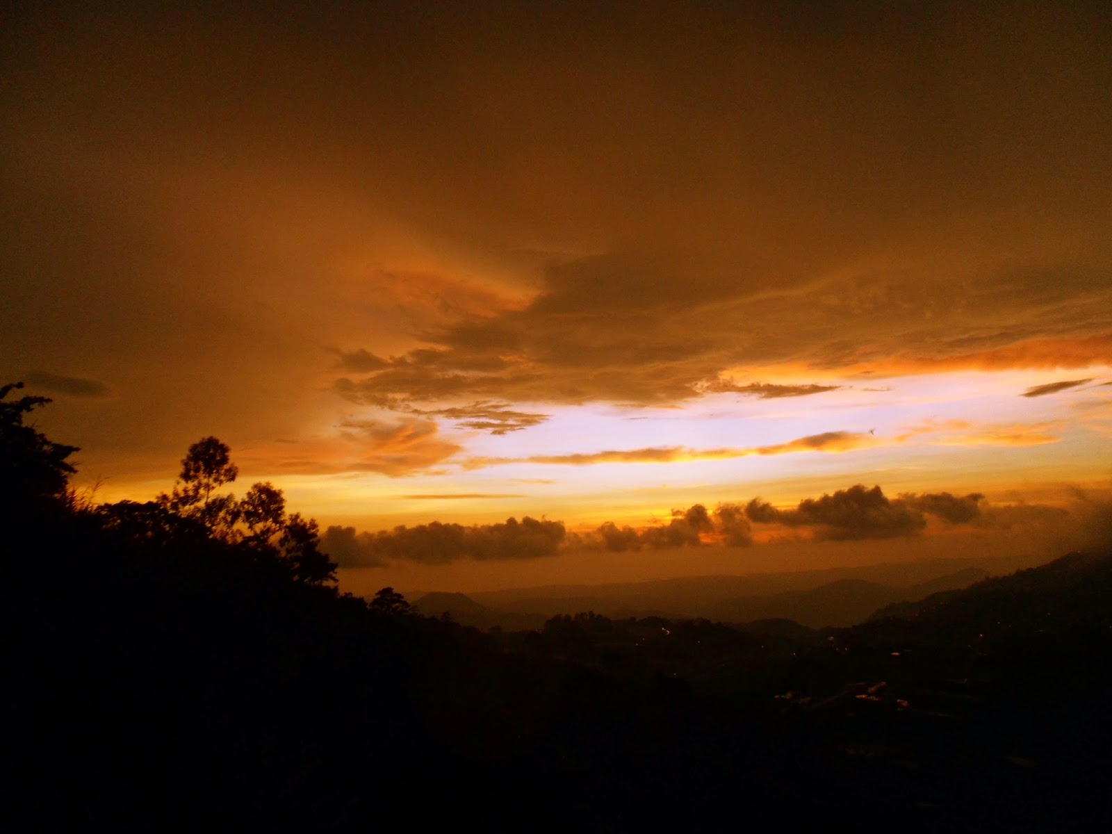 sunset in Baguio