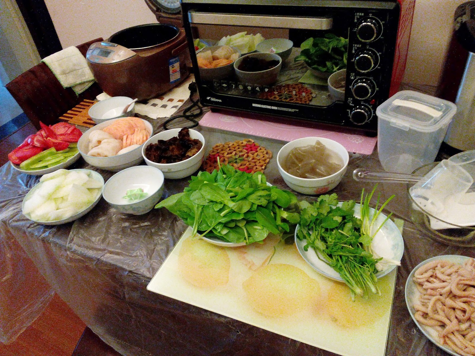 Meat and Vegetables for Spicy Hot Pot 2
