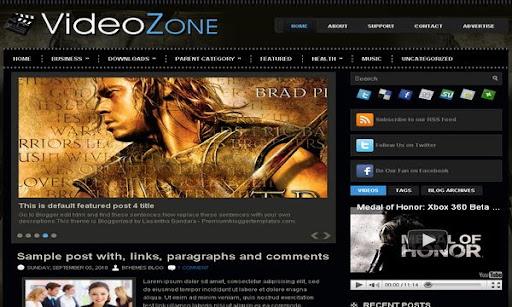 VideoZone Blogger Template