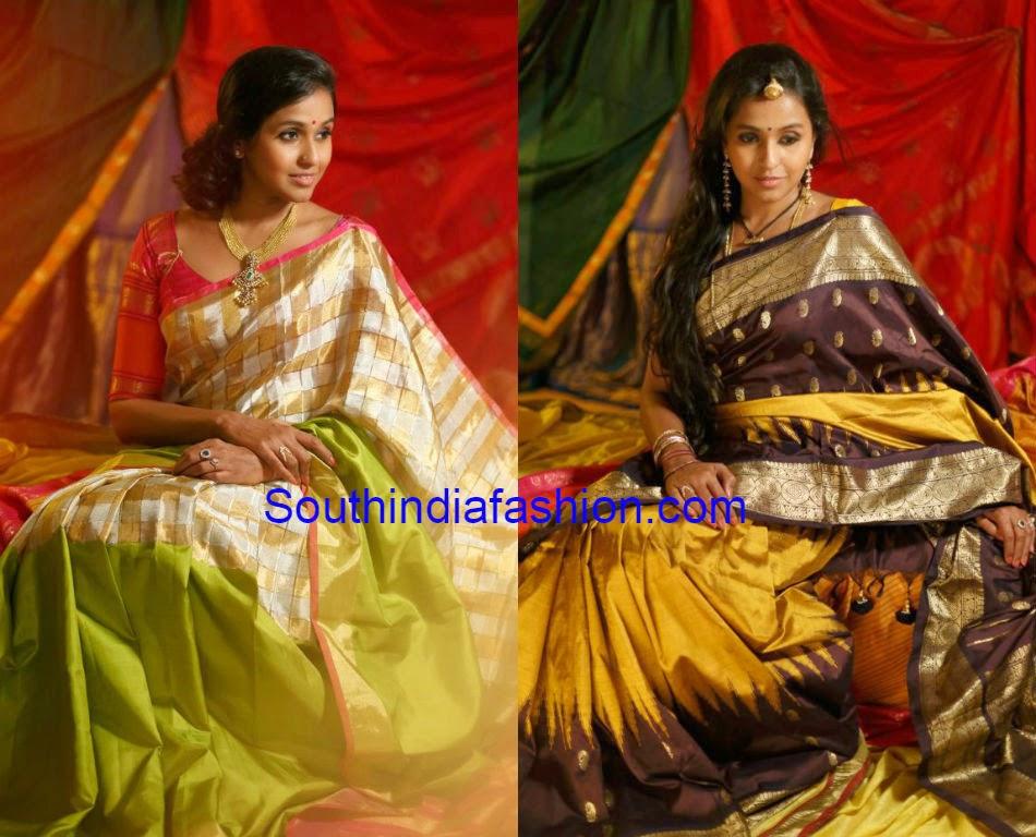 singer smitha aalayam silk sarees