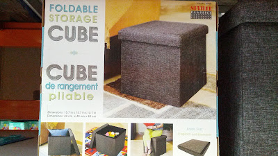 Store items in the Seville Classics Foldable Storage Cube