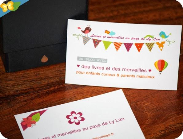 """Cartes de visite """"Livres et merveilles"""" Moo"""