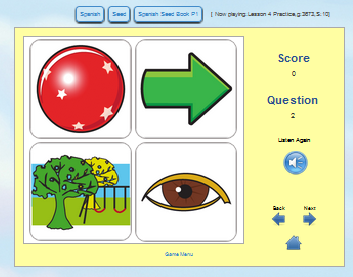 QTalk clicking game helps to practice and learn vocabulary