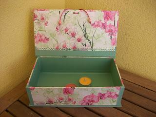 Caja para velas cartonnage