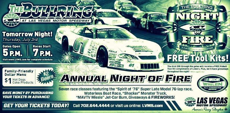 I love las vegas magazine blog come on out to the for How long is las vegas motor speedway