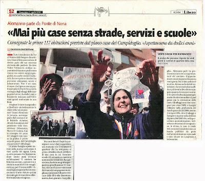 Tg roma talenti nell 39 aprile 2010 il sindaco alemanno for Case in vendita ponte di nona