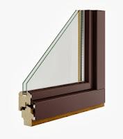 Okno drewniano - aluminiowe Pol-skone