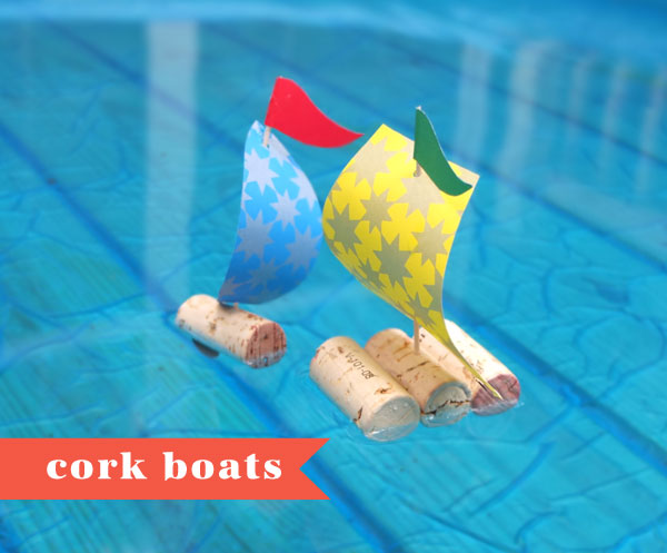 Kid's Craft: cork boats