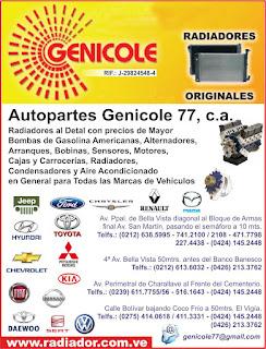 AUTOPARTES GENILE 77, C.A. GENICOLE en Paginas Amarillas tu guia Comercial