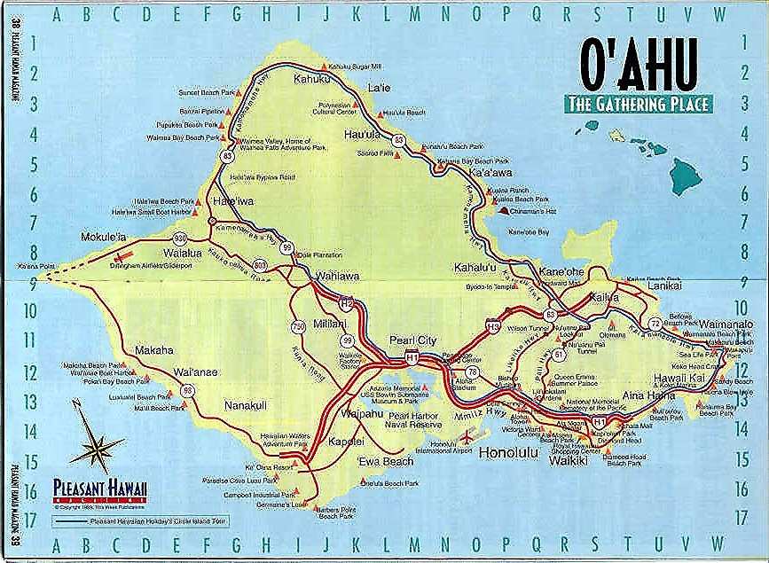 PZ C oahu – Tourist Map Of Oahu