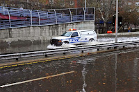 The FDR Drive flooded after Hurricane Sandy on October 30, 2012. (Credit: David Shankbone/flickr)  Click to Enlarge.