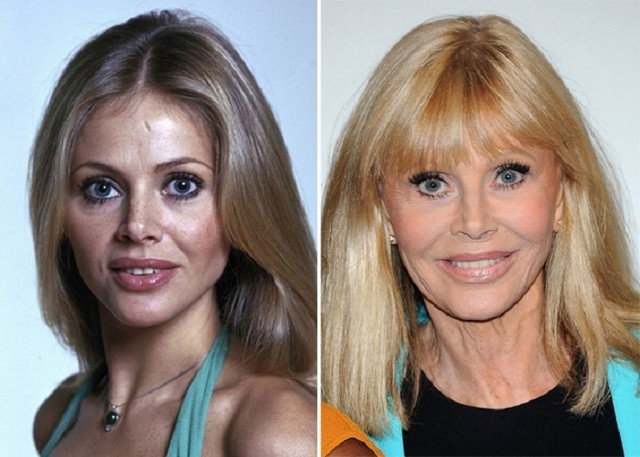 Britt Ekland young and old pictures
