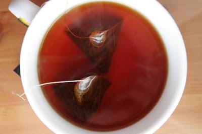 black tea with tea bag