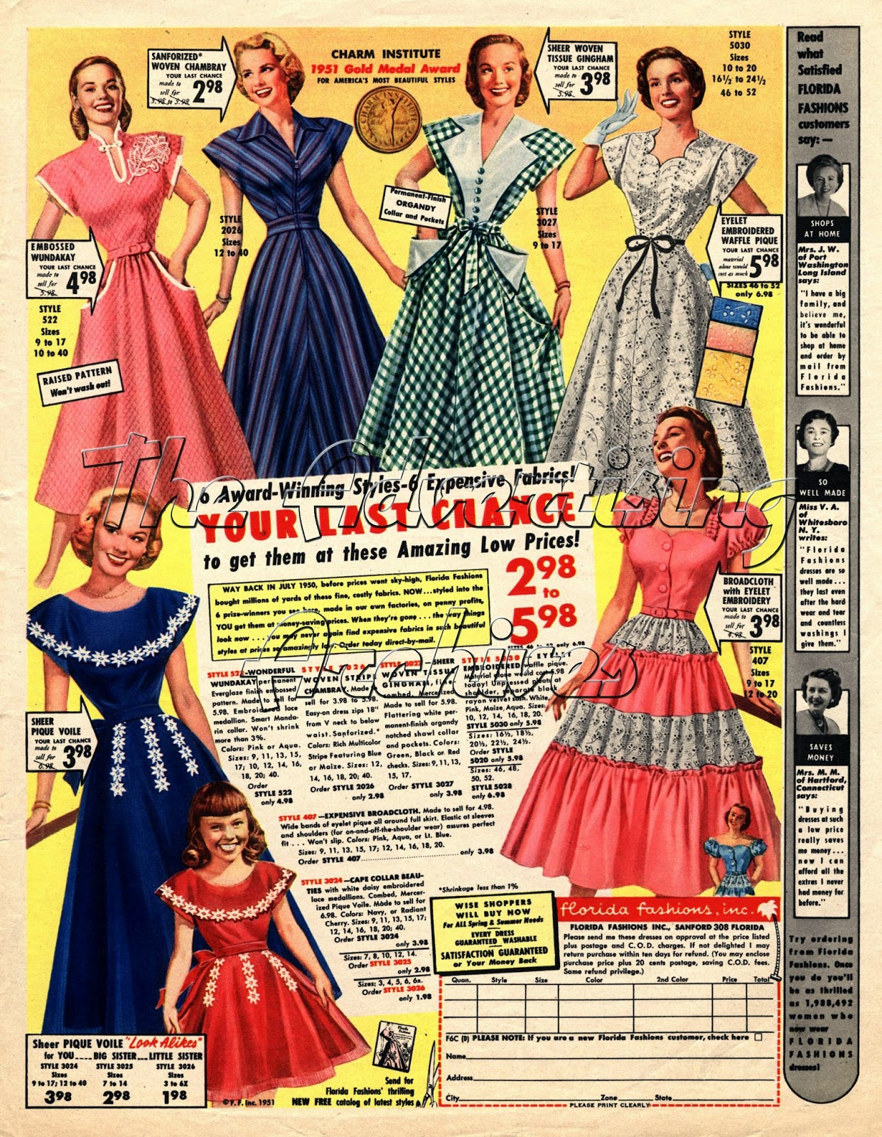 The Advertising Archives Fashion From The 1950s