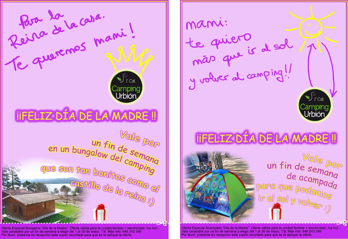 Vales regalo dia de la madre camping urbi n - Ideas fin de semana ...