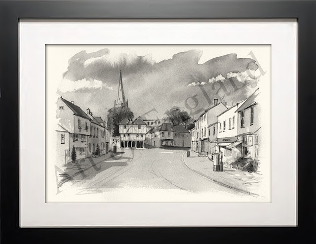 Thaxted Essex drawing