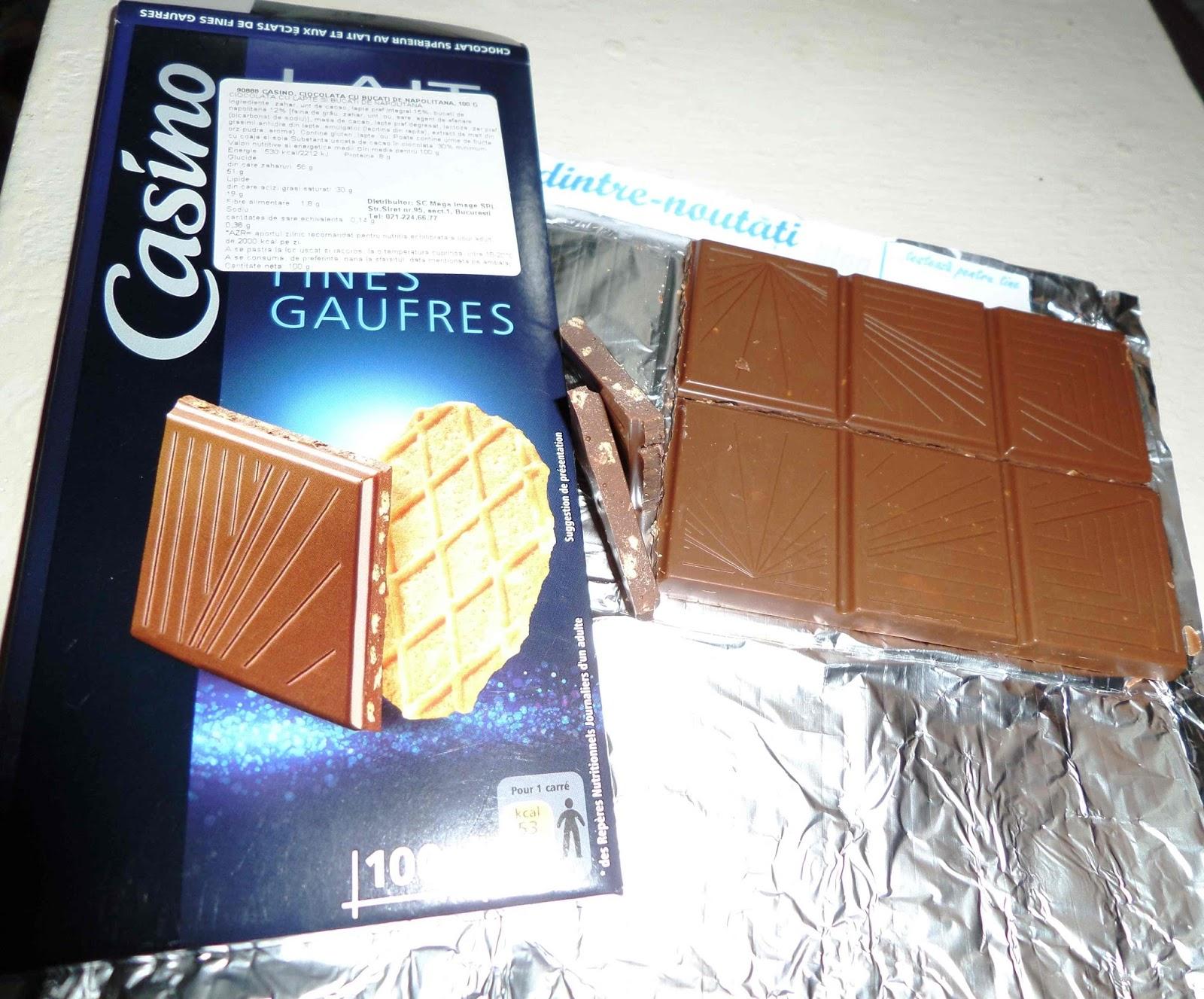 Ciocolată franceza cu bucăți de napolitană gofre