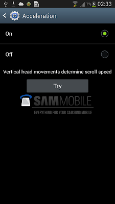 Samsung Smart Scroll Acceleration Settings