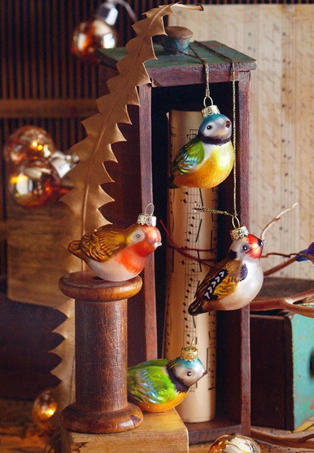 Christmas Tree Decorations Bird : Antique glass bird tree ornaments birds ornament