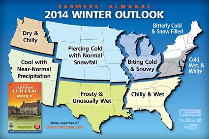 Farmers' Almanac Winter Forecast 2014