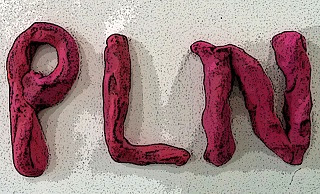 clay letters that spell PLN