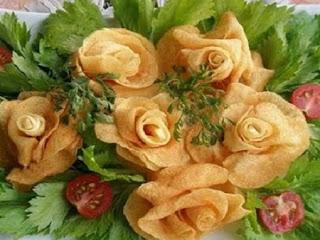 Flores con Papa  o Patata, Ideas, Cocina