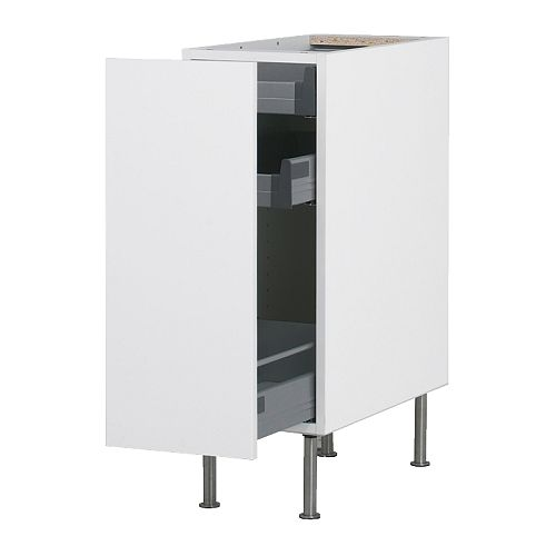 Aspelund Ikea Bedside Table ~ IKEA FAKTUM base cabinet with pull out storage in Abstrakt White