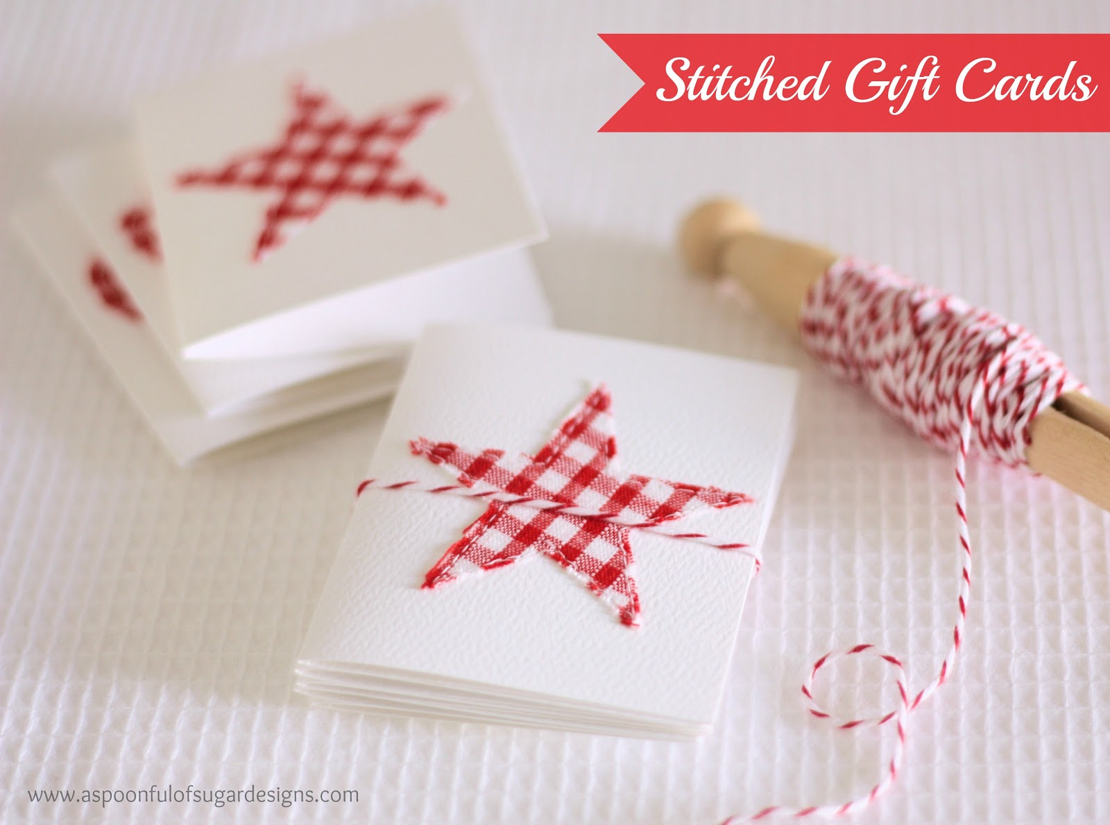Stitched Gift Cards - A Spoonful of Sugar