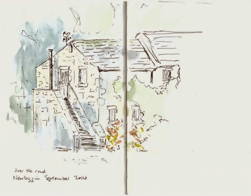 Ink and watercolour sketch Yorkshire Dales National Park