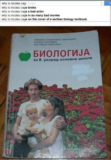 Nicolas Cage auf Serbischem Schulbuch