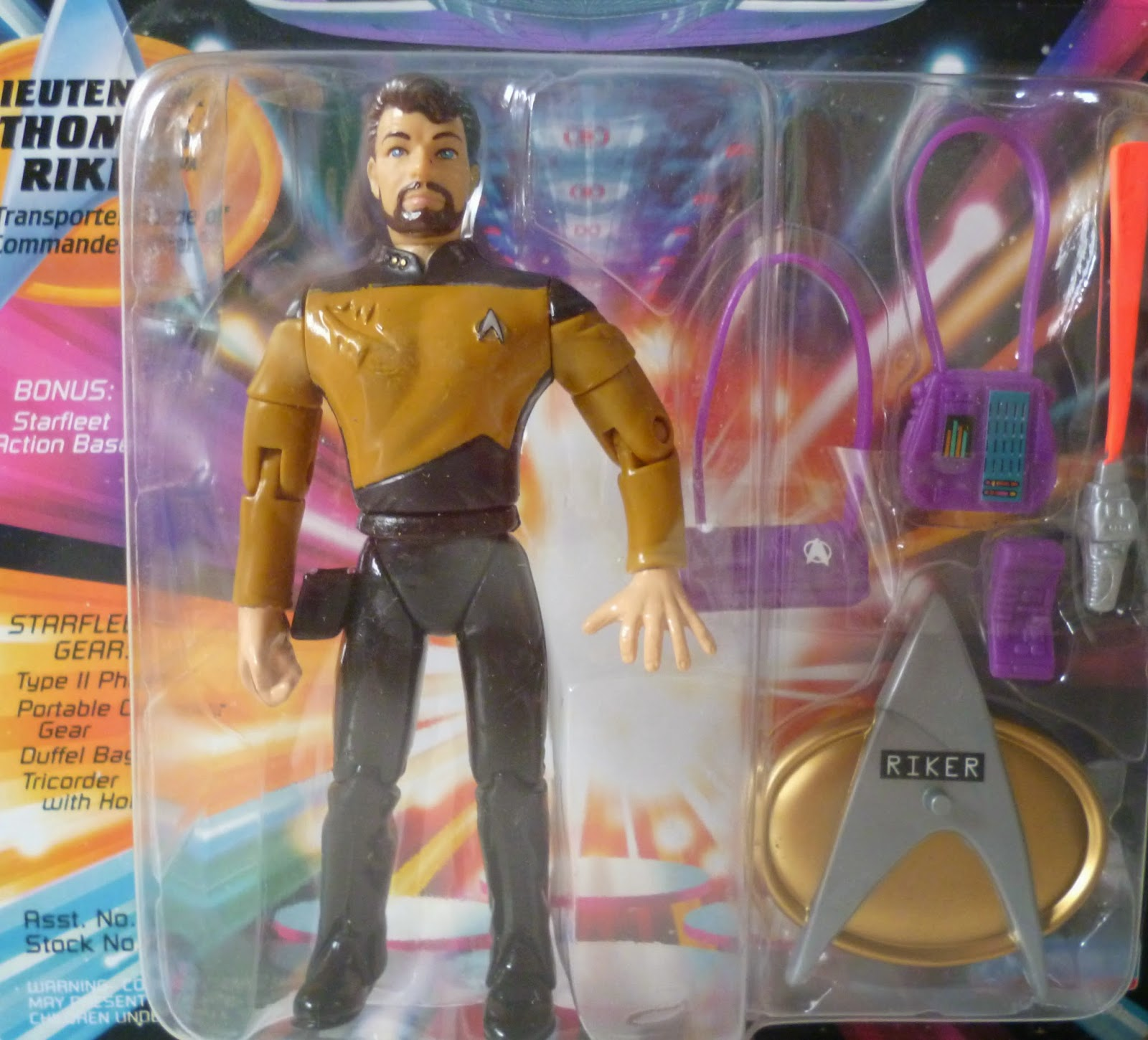 Star Trek The Next Generation Thomas Riker Action Figure Rare